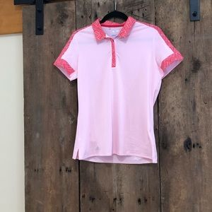 Women's fitted athletic polo/golf shirt